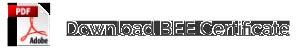 Download BEE Certificate